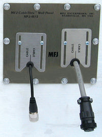 MFJ-4612, 2-HOLE ADAPTIVE CABLE WALL PLATE