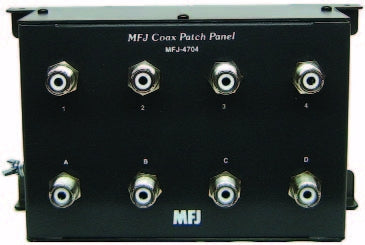 MFJ-4704, COAX PATCH PANEL, 4 POSITIONS