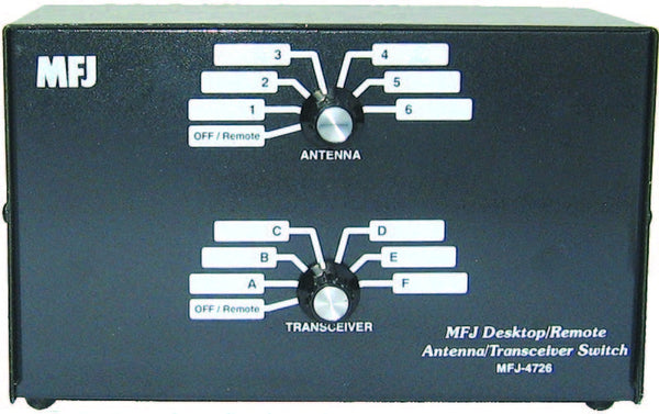 MFJ-4726, ANT/XCVR DESK/REMOTE SWITCH, 6 POS, 1.8-150 MHz