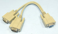 MFJ-5419, Y CABLE FOR RS-232 PORT, 9-PIN (620-9002)