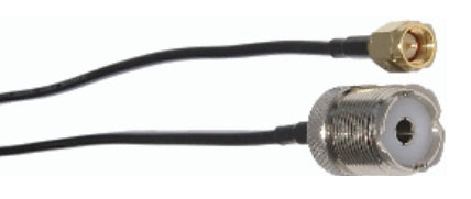 MFJ-5612S, ADAPTOR CABLE, SMA M-SO239, RG174, 3FT(620-3012)