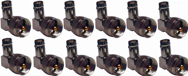 MFJ-7703P, 12-PACK PL-259 TO BNC F R.ANG ADAPTOR (610-2103)