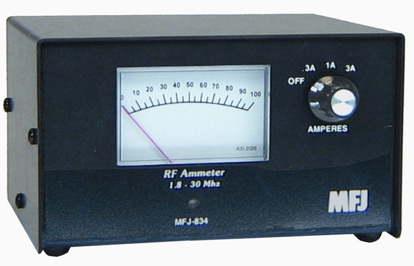 MFJ-834, RF IN-LINE CURRENT METER, COAX, 1-30MHz, 3AMP