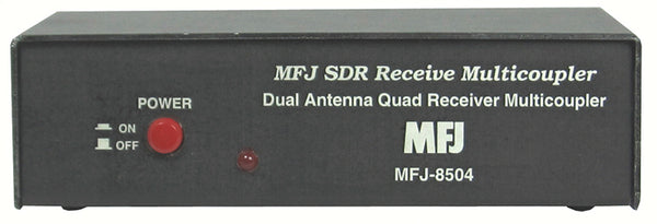 MFJ-8504NS, SDR RECEIVER MULTI-COUPLER, W/AM NOTCH FILTER,SMA