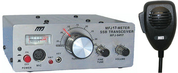 MFJ-9417X, TRANSCEIVER, SSB 17-METER WITH MICROPHONE