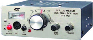 MFJ-9420X, TRANSCEIVER, SSB 20-METER WITH MICROPHONE