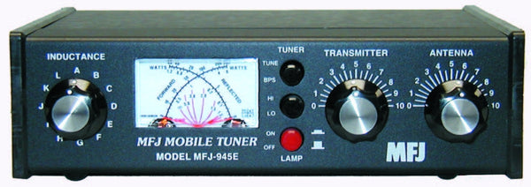 MFJ-945E, TUNER, HF+6M MOBILE, 300W, WITH ANTENNA BYPASS SWITCH