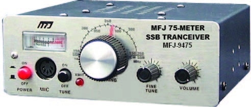 MFJ-9475X, TRANSCEIVER, SSB 75-METER WITH MICROPHONE