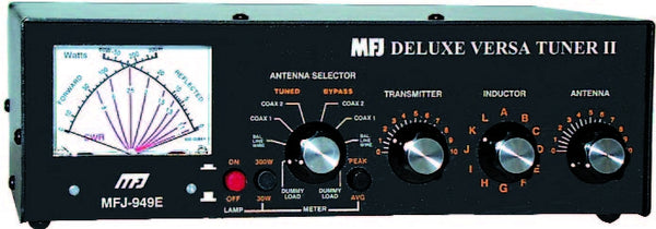 MFJ-949E, TUNER, 300W, 1.8-30 MHz, PEAK CROSS METER, DL