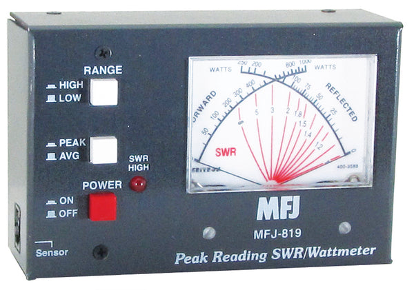 MFJ-819, IT, FLAT REMOTE, SWR/WATTMETER, MOBILE, HF+6M, 2kW