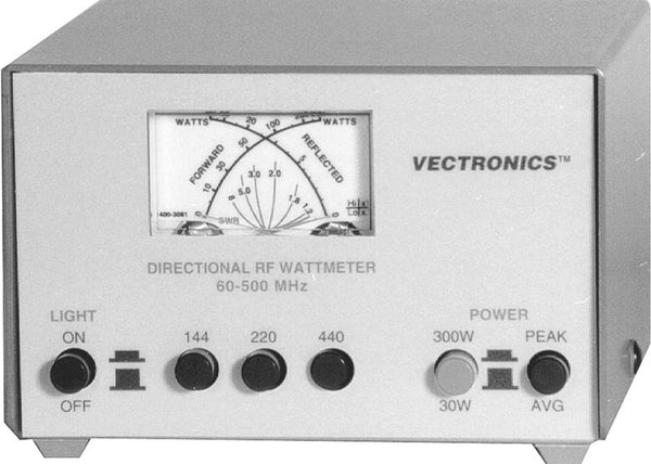 PM-30UV, 144/220/440 MHz WATTMETER, 30/300W, SO-239