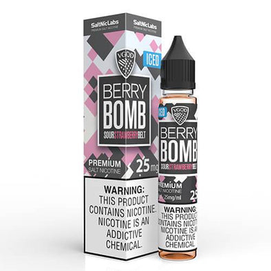 VGOD and SaltNic eJuice - ICED Berry Bomb