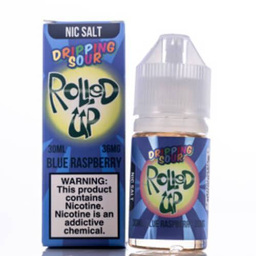 Dripping Sour SALT eLiquid - Rolled Up Blue Raspberry