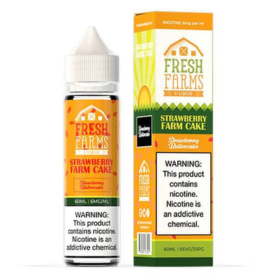 Fresh Farms E-Liquid - Strawberry Farm Cake