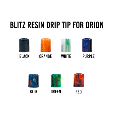 Blitz Resin Orion Drip Tip - Juice Man