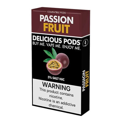 Delicious Pods - Compatible Flavor Pods - Passion Fruit (4 Pack)