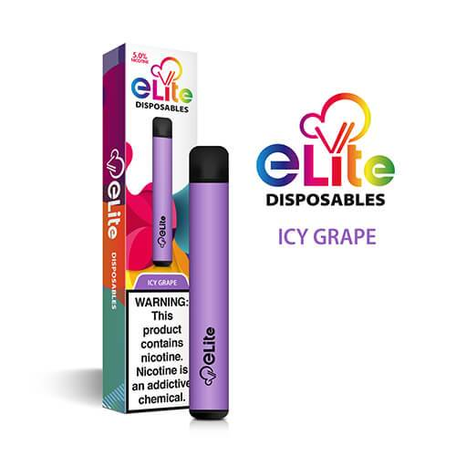 Elite Disposables - Disposable Vape Pen - Icy Grape