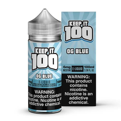 Keep It 100 E-Juice - OG Blue
