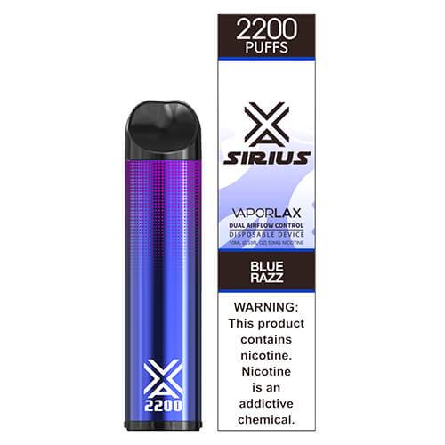 Sirius by VaporLAX - Disposable Vape Device - Blue Razz