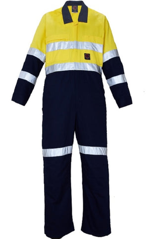 RM908CR-RITEMATE HI Vis Combination Overalls Day/Night Rated in Regular Weight