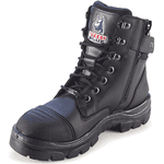 512719-Steel Blue LADIES Southern Cross Zip Steel Toe Scuff Cap Safety Boots