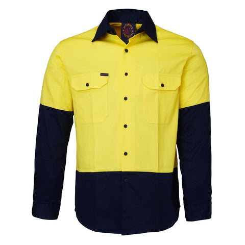 RM1050-RITEMATE Hi Vis Long Sleeve Shirt, Day Only Rated in Regular Weight