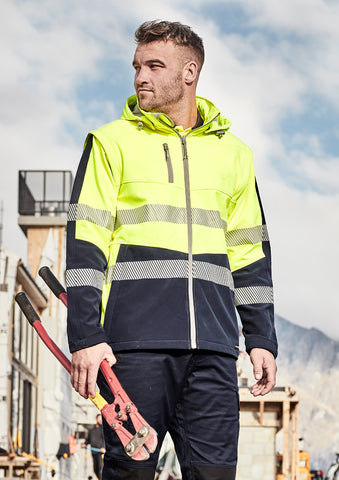 ZJ453-SYZMIK 2 in 1 Soft Shell Jacket with Reflective Tape