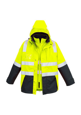 ZJ532- SYZMIK Hi Vis 4 in 1 Jacket with Removable Vest both with Reflective Tape