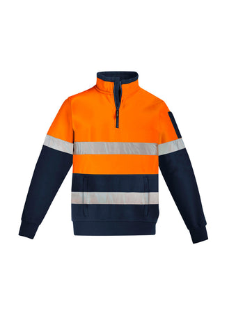 ZT567-SYZMIK Hi Vis 1/4 Zip Fleecy Top with Reflective Tape