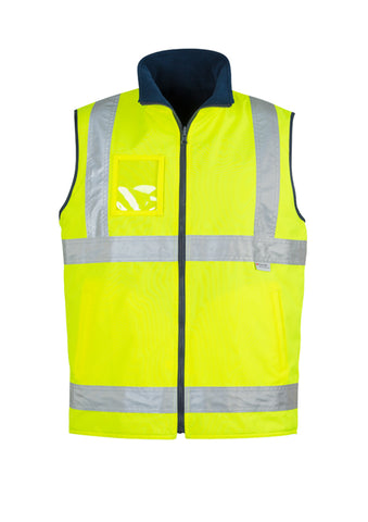 ZV358-SYZMIK Reversable Vest with Reflective Tape