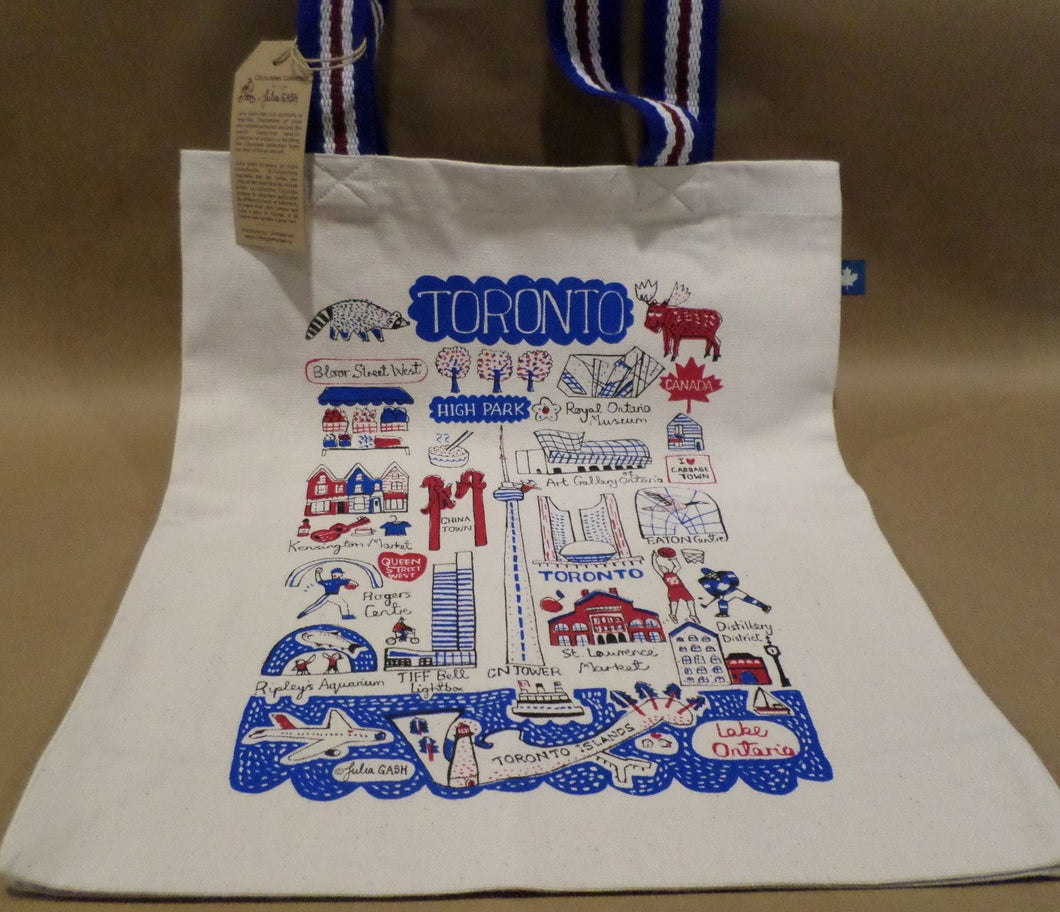 Toronto Cityscapes Canvas Tote Bag