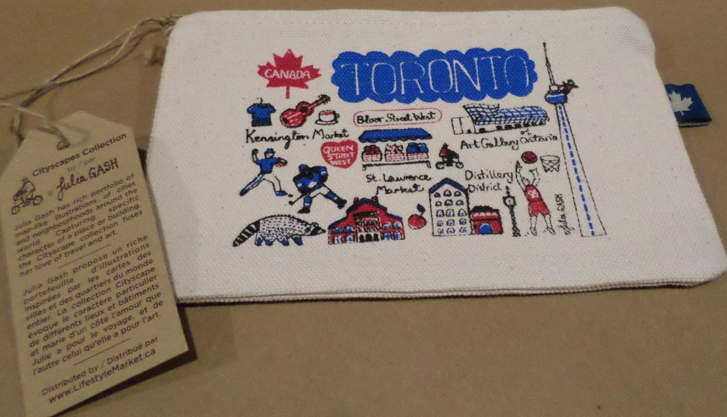 Toronto Cityscapes Mini Zip Pouch