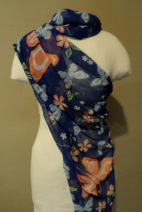 Scarf - Butterfly and Wild Rose