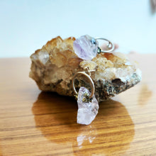 Load image into Gallery viewer, Amethyst Circle Earring