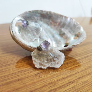 Lepidolite Earring With Amethyst