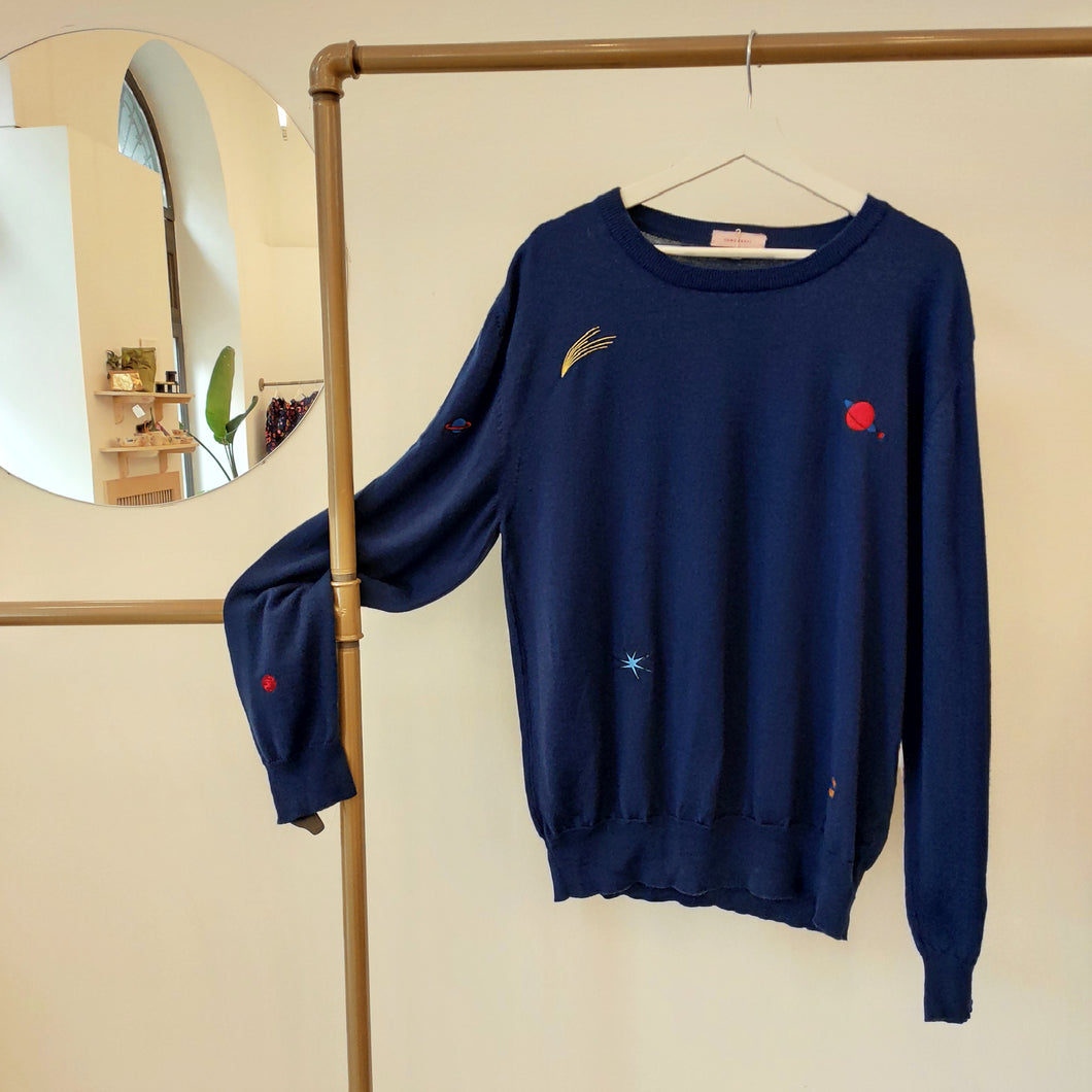Planets Sweater Blue