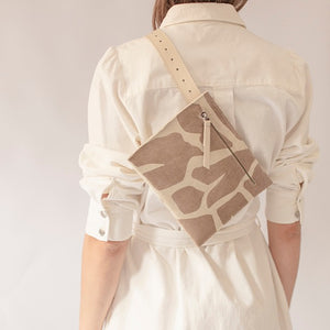 V3 Variable Canvas tote bag with leather pocketbag / small SAND