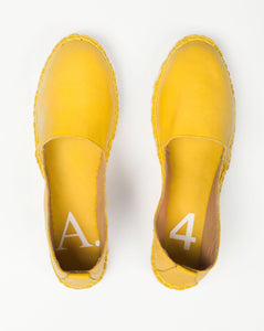Arven Mixed Sole Leather Espadrilles Yellow