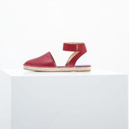 Ault Leather Espadrilles Oxblood Red