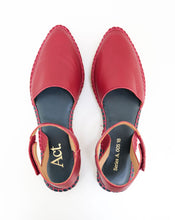 Load image into Gallery viewer, Ault Leather Espadrilles Oxblood Red