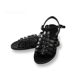 Classic Leather Woman Sandal – Black Color