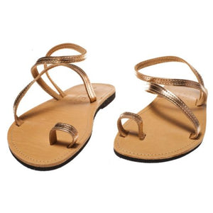 Classic Leather Woman Sandal – Copper Color