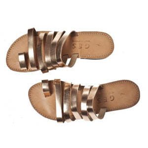 Classic Leather Woman Sandal – Copper