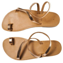 Load image into Gallery viewer, Classic Leather Woman Sandal – Copper Color