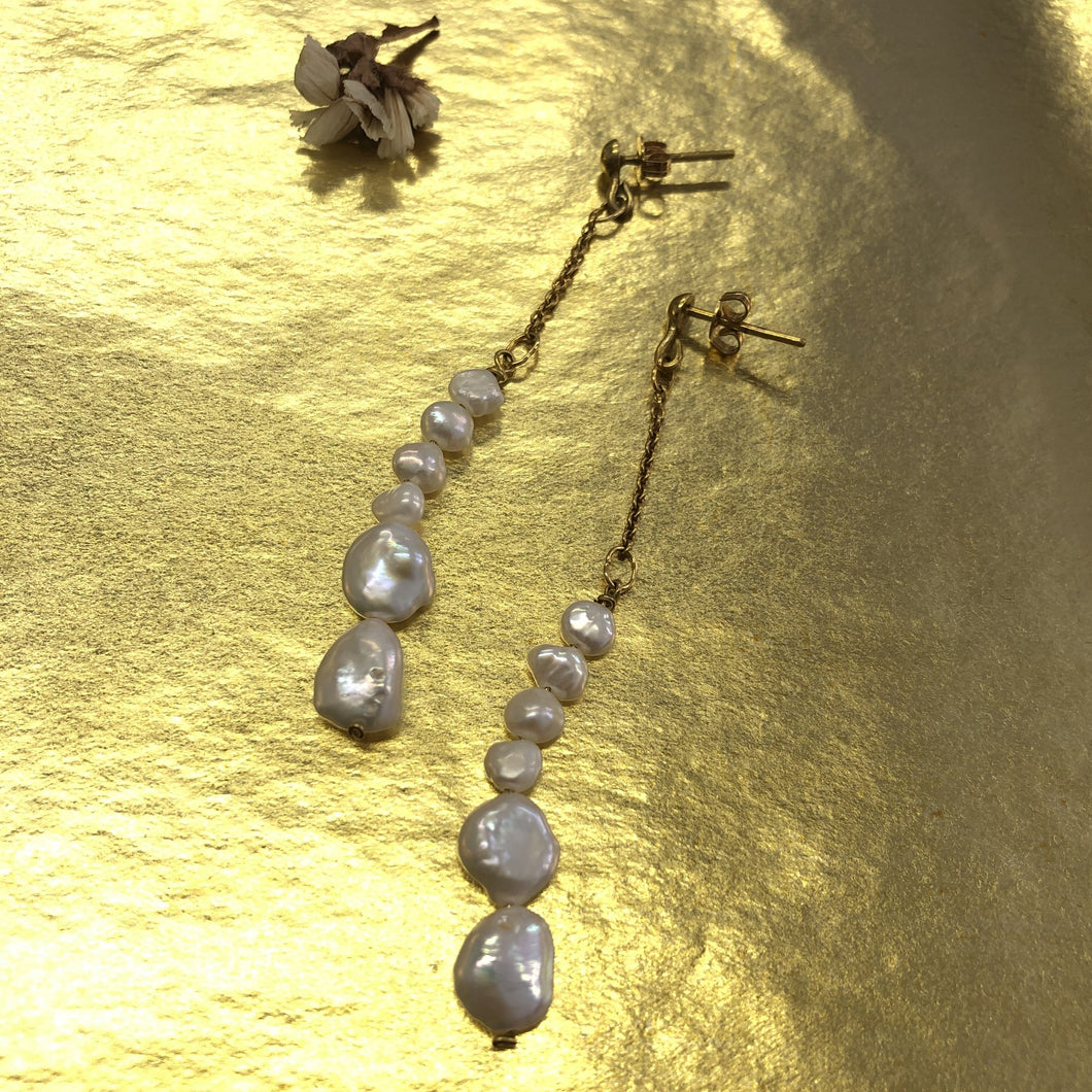 Medium Pearls Earring