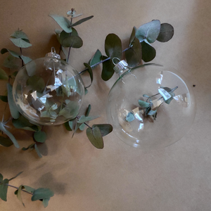 Eucalyptus Filled Glass Ball