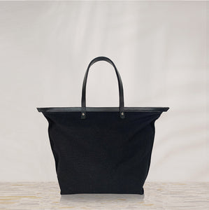 V3 Variable Canvas tote bag with leather pocketbag / big BLACK