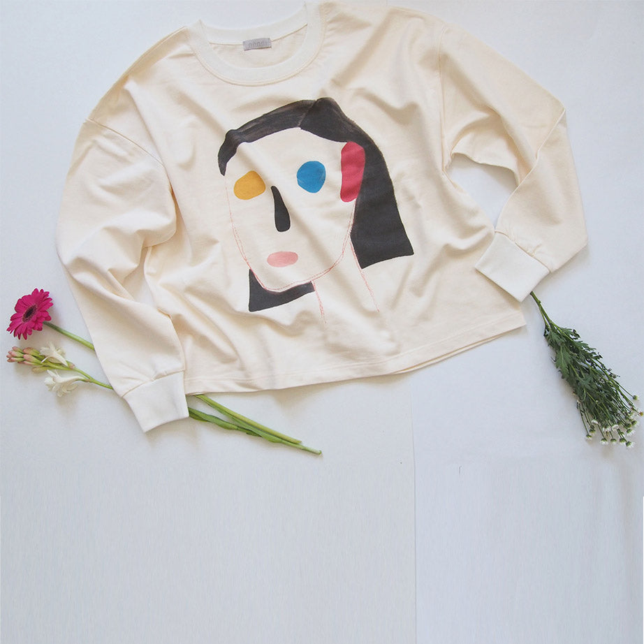 Abstract Face Sweatshirt Nr.2.