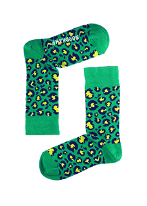 Green Panther Socks