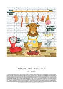Poster Print of Angus the Butcher